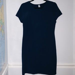 Old Navy Navy Blue Dress Shortsleeves